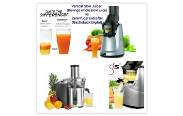 Produktvergleich Kuvings whole slow Juicer vs. Gastroback Zentrifugal Entsafter - Green EGO ...